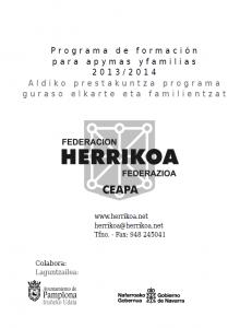 Programa Formación para Apymas 13-14