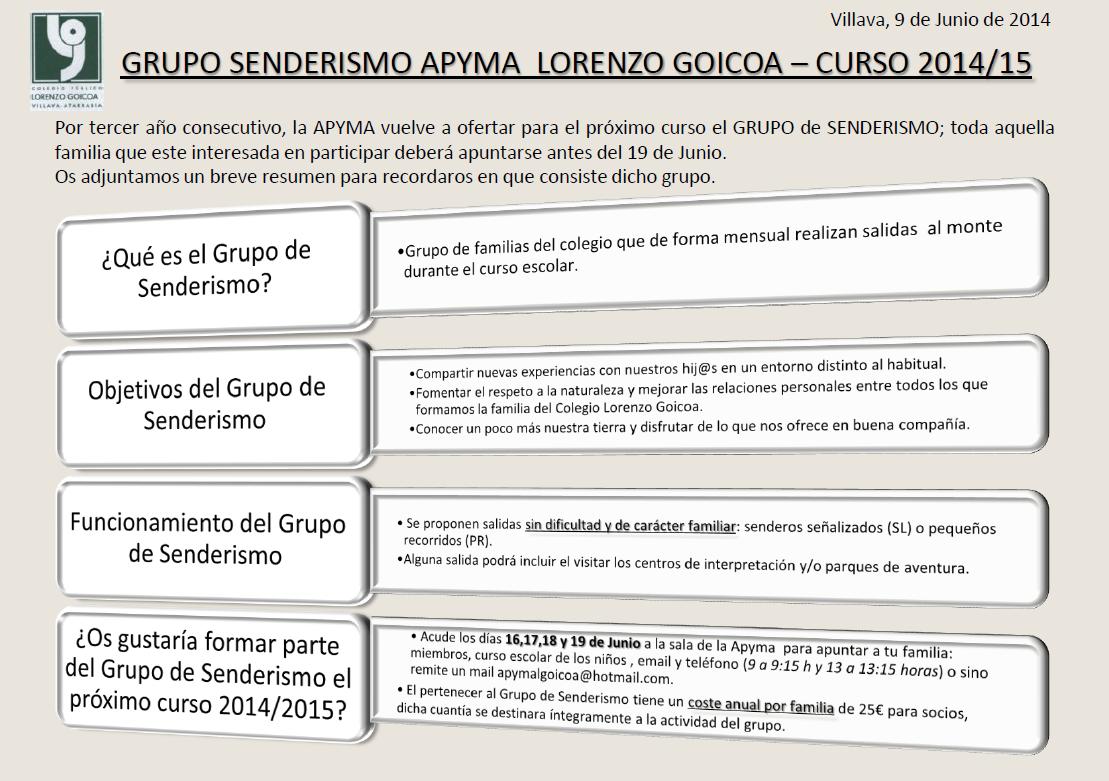 Senderismo2014-15
