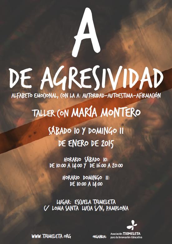 Cartel e Info Curso Agresividad 10 enero 2015