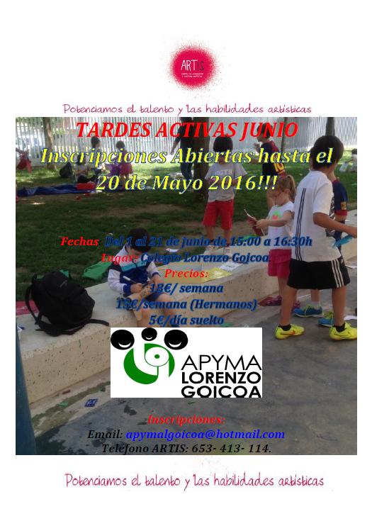 Tardes Activas - Junio 2016